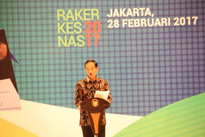 Pesan Presiden pada Rakerkesnas 2017