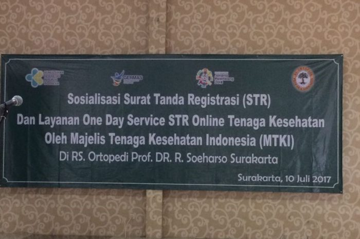 Layanan one day service STR online